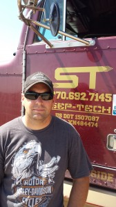 Sep Tech owner and founder, Joe Reed, providing septic tank services to northern Colorado